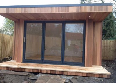 garden room with walkway to be constructed
