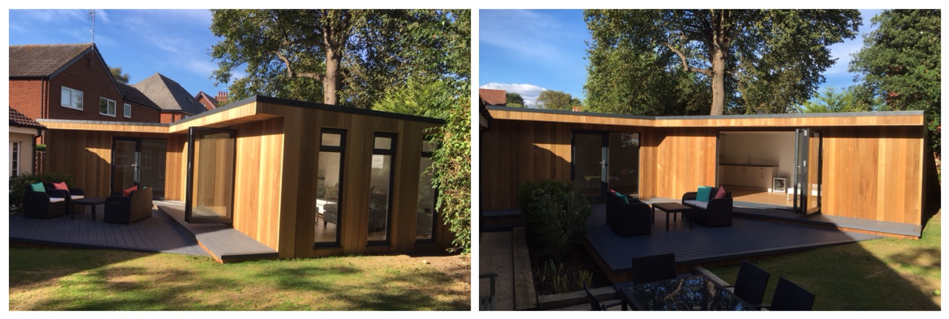 Large garden room multiple angles