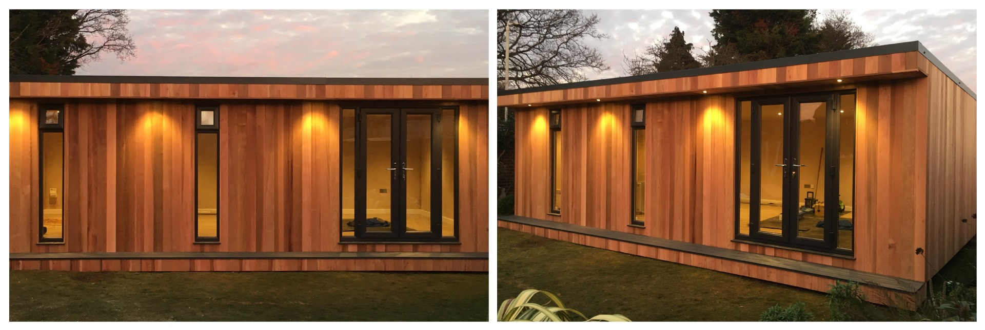 garden room front and angled