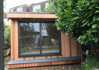 garden room with small grey step