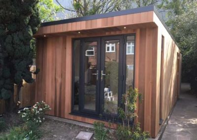 garden room front with double doors