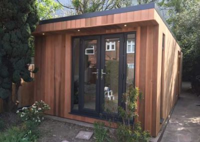 garden room salon with double doors