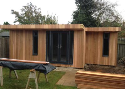 Garden room under construction