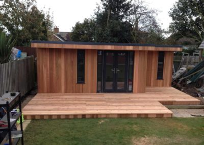 Newly completed garden room