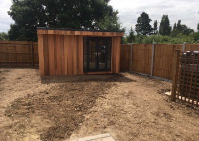 Completed garden room front
