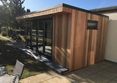 Right side of garden room with outside furniture