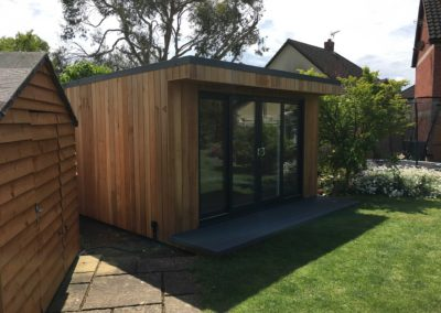 Garden room next to shed