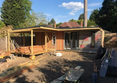 Large garden room under construction