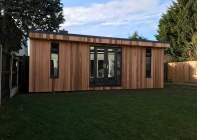 Large garden room with grass