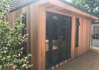 Front left angle garden room with double doors