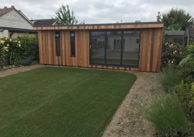 Large garden room next to plants