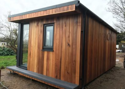 Rear angled photo of garden room